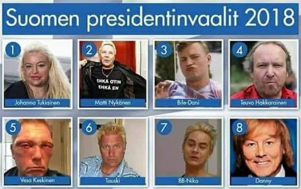 Ketä näistä äänestäisit jos olisi ihan pakko?