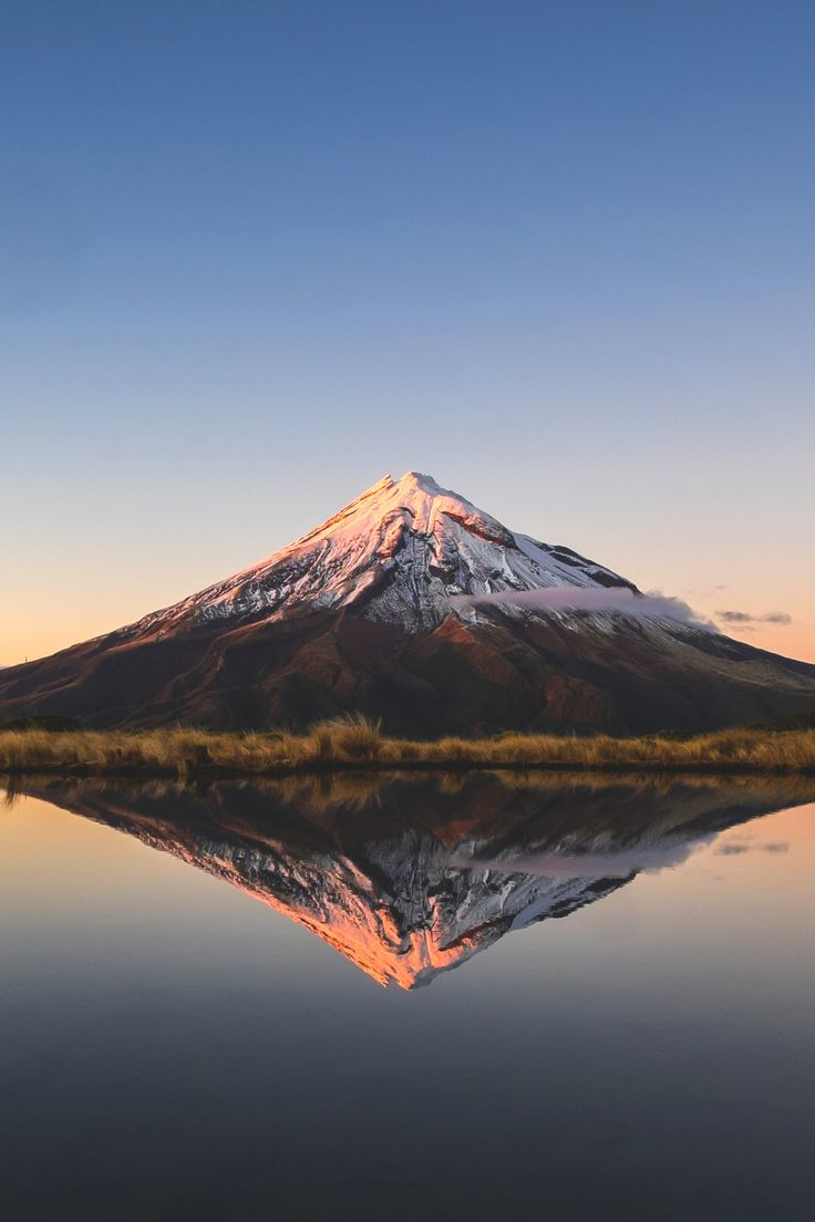 lsleofskye: Taranaki reflections captured from Pouakai Tarn.   Source: Flickr.com