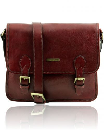 TL POSTMAN TL141288 Leather messenger bag - Borsa messenger in pelle