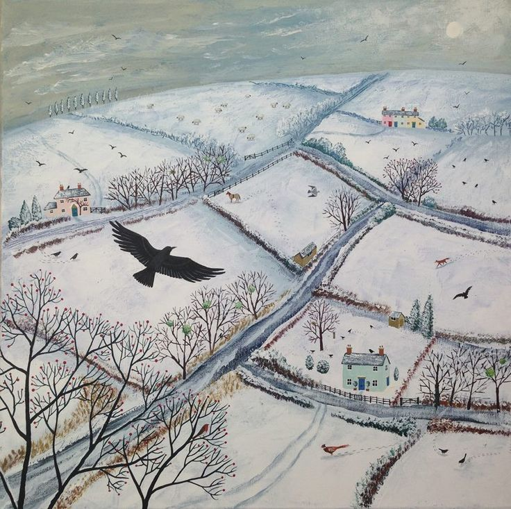Flying above the winter