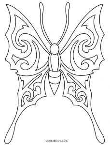 coloring page butterfly - Coloring Pages Butterfly Kids