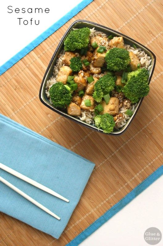 This sesame tofu recipe is easy as can be! It comes together in less than 30 minutes.