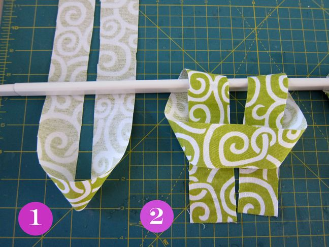 cute & easy (great combo!) for valance --alternate with white--