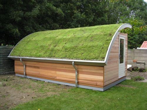 tuinhuis met groendak