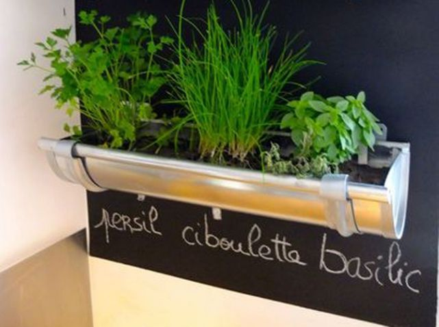 ©1001gardens #gouttieres #jardinieres #upcycling
