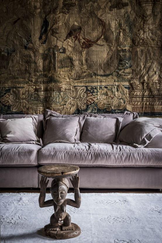 Camillo sofa, pink velvet
