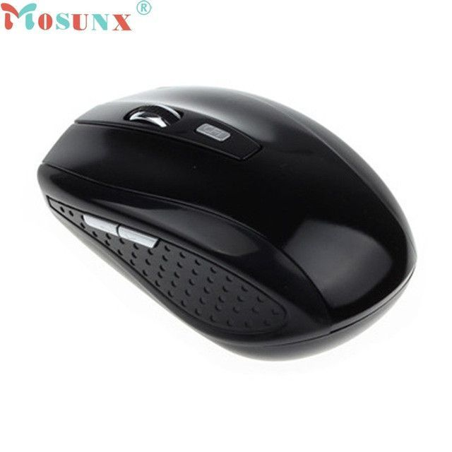 Mecall Fashion Black Portable 2.4G Wireless Optical Mouse Mice For Computer PC Laptop Gamer #3331