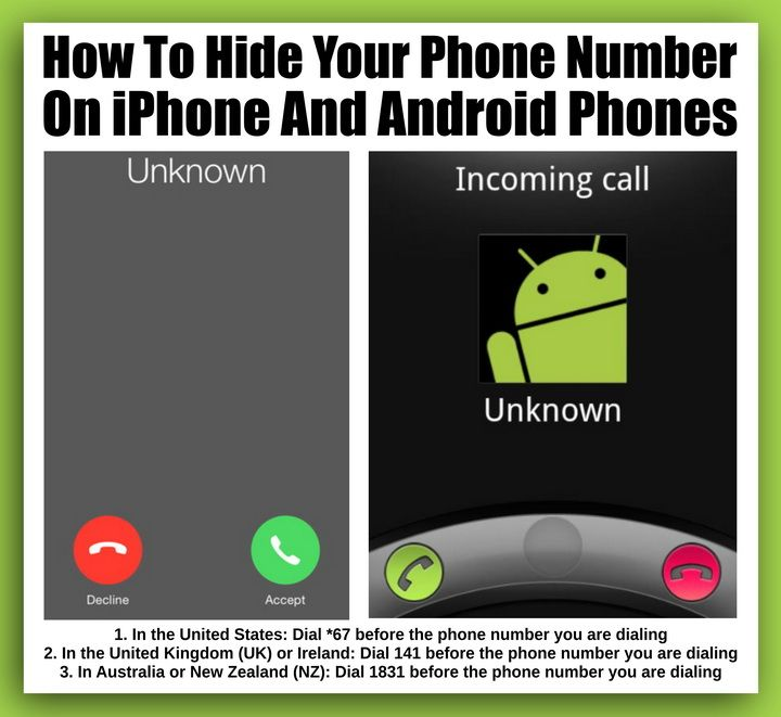 How To Hide Your Phone Number On iPhone And Android Phones