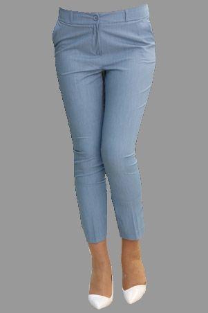 Manşet Bilek Kumaş Pantolon-Mavi-1811