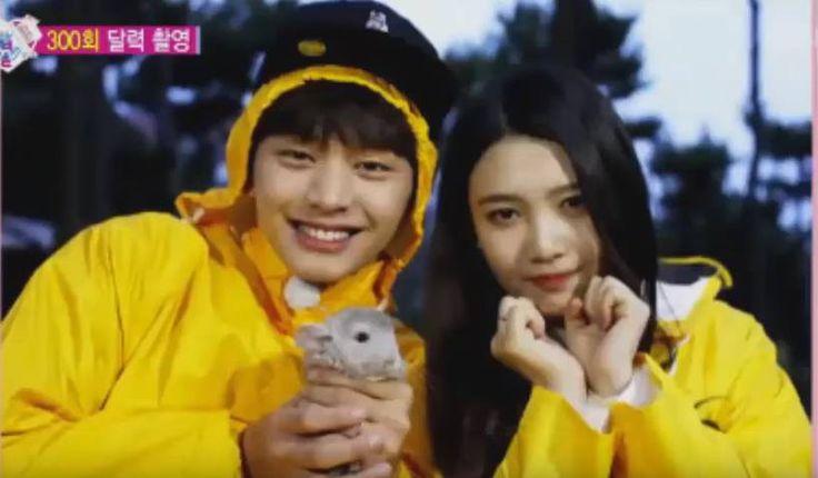BTOB's Sungjae and Red Velvet's Joy invite a chinchilla to 'We Got Married' calendar shoot | http://www.allkpop.com/article/2015/12/btobs-sungjae-and-red-velvets-joy-invite-a-chinchilla-to-we-got-married-calendar-shoot