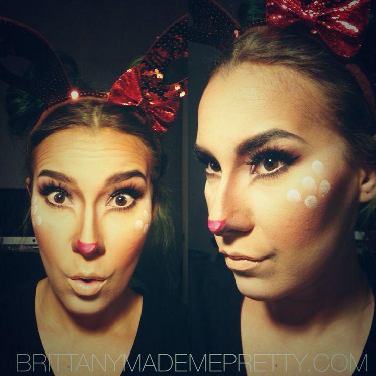 Rudolph christmas makeup #brittanymademepretty