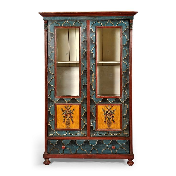 Hand painted original vitrine