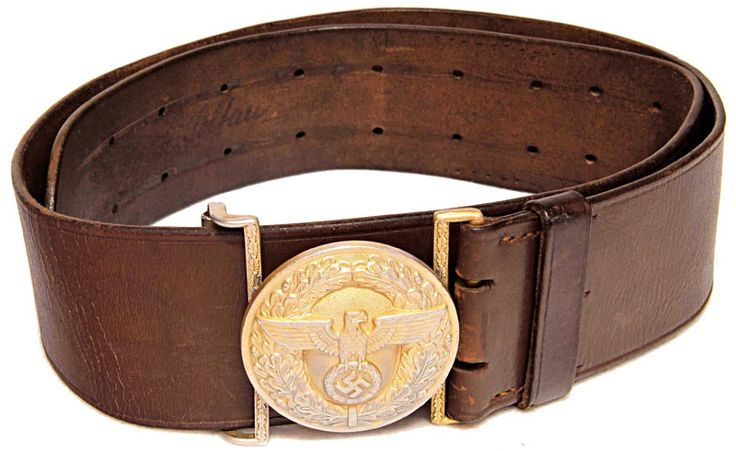 Nazi Germany - NSDAP Political Leader 55mm Leather Belt and Buckle