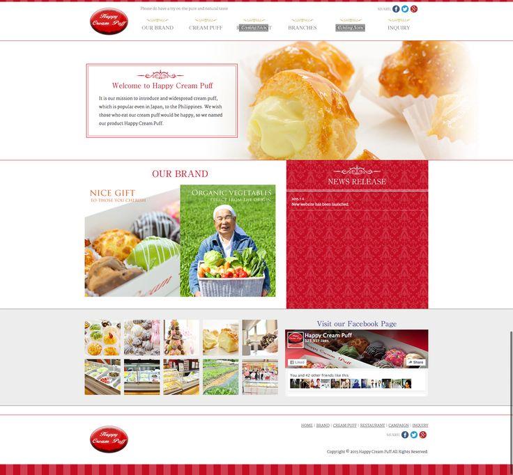【WEBサイト】 HAPPY CREAM PUFF社のフィリピン人向けサイトを制作させていただきました。 ここ最近店舗数も10店舗を超えとても勢いのある企業様です。フィリピンにお越しの際は、ぜひとも1度食べてみてください。