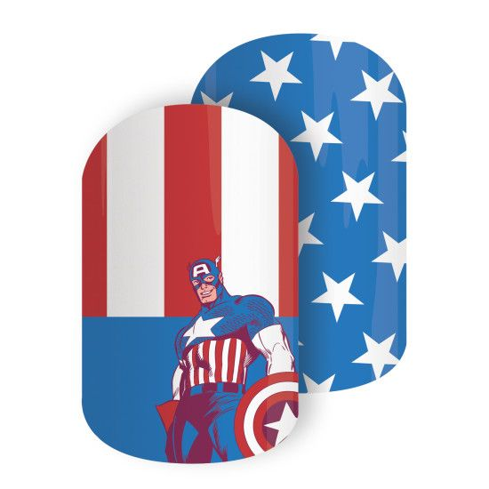 Best Nail Polish Trends 2016, 2017, 2018: Marvel Captain America and Iron Man Comic Collection Sheet Nail Wrap Designs By Jamberry