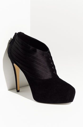 Brian Atwood Satin Trim Suede Ankle Boot | Nordstrom: Black Booties, Fashion Shoes, Shoes Fashion, Ankle Boots, Atwood Shoes, Brian Atwood, Girls Fashion, Fashion Looks, Girls Shoes