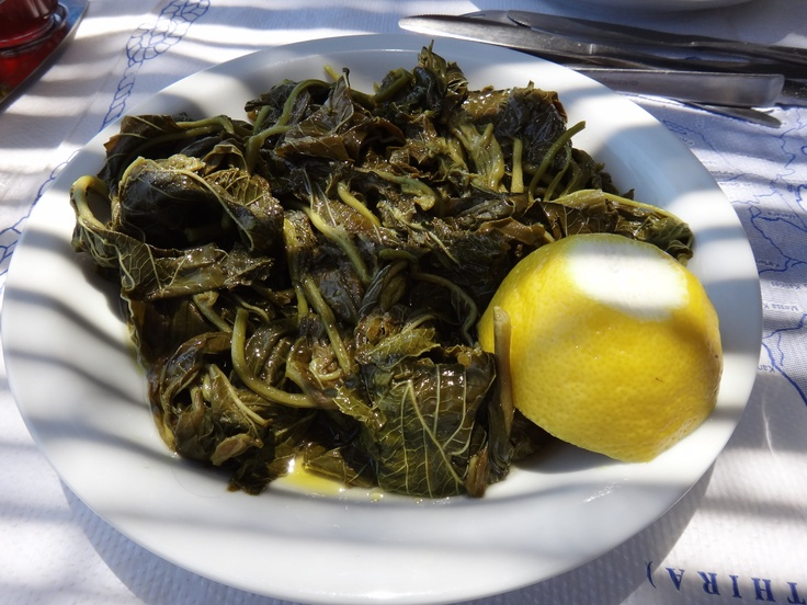 sauteed sea-grass with lemon and garlic