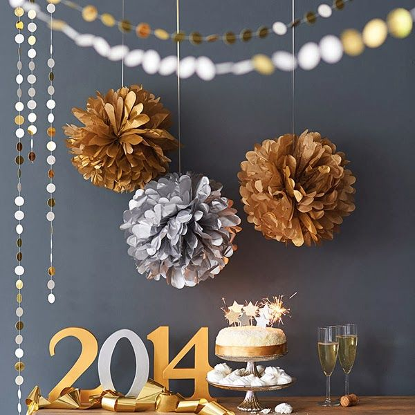 Love these understanded NYE decorations--image via Decorismo #zincdoor #2014 #celebrate