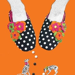 Stasia Bubblegum Slippers- Artwork
