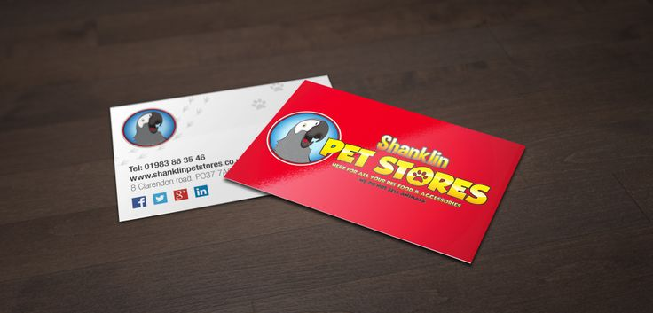 Shanklin Pet Stores new business cards, Material : 350gsm Silk Coated, Lamination - front : Matt Soft Touch. They look and feel amazing. We're very happy and so is our client. Please hit the like but if you like them.