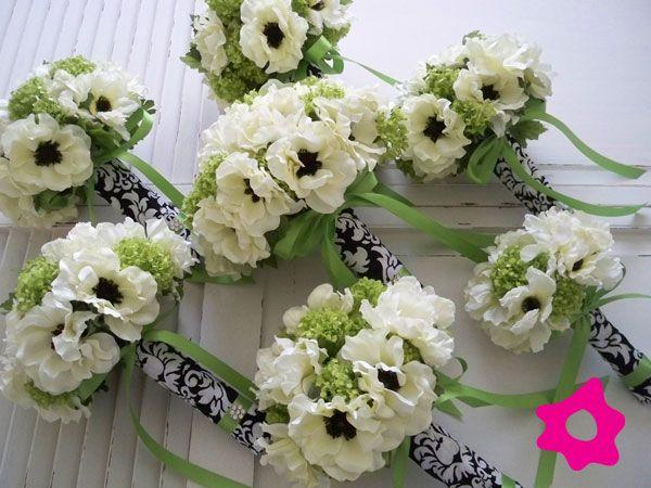 Anémona como flor de boda para el ramo de novia