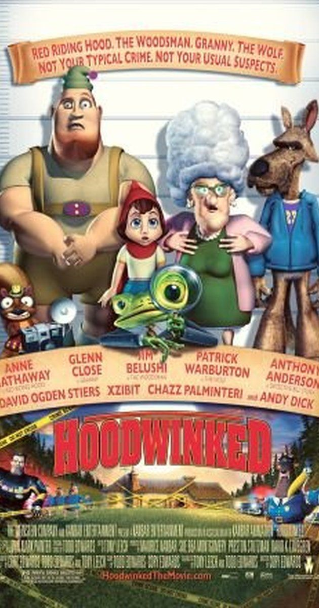 Directed by Cory Edwards, Todd Edwards, Tony Leech.  With Anne Hathaway, Glenn Close, Patrick Warburton, Jim Belushi. Little Red Riding Hood, the Wolf, the Woodsman, and Granny all tell the police the events that lead up to their encounter.