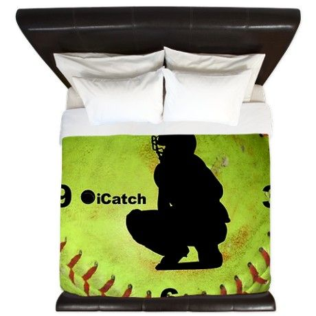 iCatch Fastpitch Softball King Duvet