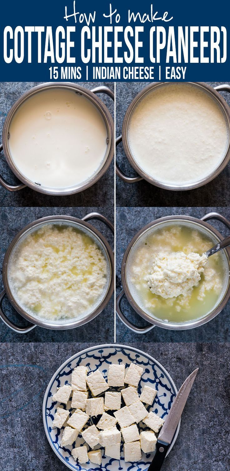 Here's step by step instructions to make homemade Indian paneer (cottage cheese) in just 15 minutes. The next time you want to make saag paneer, palak paneer, makhani, tikka or matar paneer, don't buy store bought and just make this at home with 2 ingredi