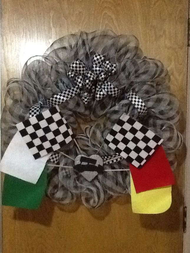 Sprint Car Racing wreath