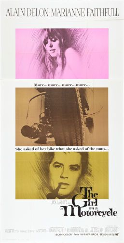 """Movie Posters:Romance, The Girl on a Motorcycle (Warner Brothers - Seven Arts, 1968).Three Sheet (41"""" X 81"""").. ..."""