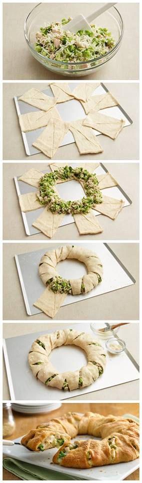Cheesy Chicken and Broccoli Crescent Ring Recipe