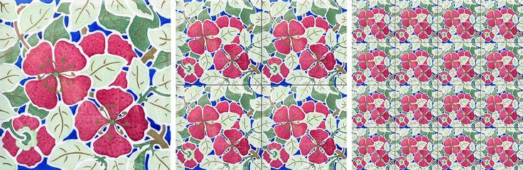 Padrão / Pattern P-20-00119 #Azulejo #AzulejoDoMês #AzulejoOfTheMonth #Flores #Flowers #Padrão #Pattern