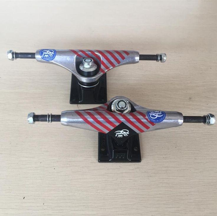 """Original 2pcs/Pair Pro Royal Trucks Skateboard Aluminum 5.25"""" Skate Truck for Cruiser Skateboard Board"""