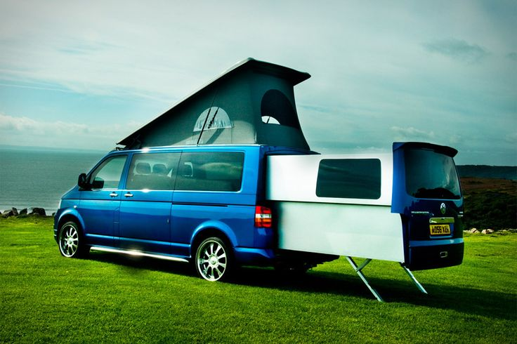 """Thanks for the heads-up on this uncrate! """"Why pull a camper behind you or drive an oversized motorhome when all you really need to drive is a van? Based on the VW Transporter, the Doubleback Van (£55,000; roughly $87,000) is a deceptively large recreational vehicle..."""" More info at http://uncrate.com/stuff/doubleback-van/"""