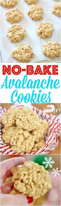 No-Bake Avalanche Cookies recipe from The Country Cook! Easy, simple holiday cookies that are perfect to give as gifts or save all for yourself!