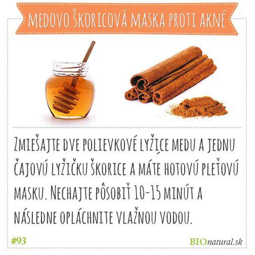 Medovo škoricová maska proti akné #diy #vyrobsisama #akne