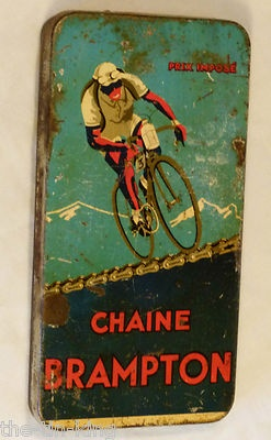 RARE Vintage Antique Art Deco Brampton Bicycle Chain Tin Race Prix Tour Mountain | eBay
