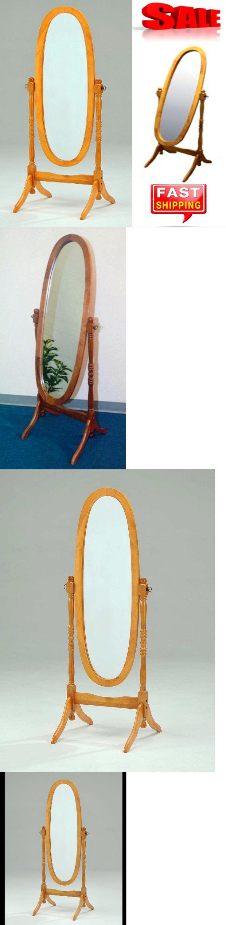 Mirrors 20580: Full Length Oval Floor Standing Mirror Wood Swivel Tilt Cheval Oak Bedroom Stand -> BUY IT NOW ONLY: $56.99 on eBay!