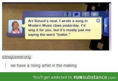 Oh, sims.