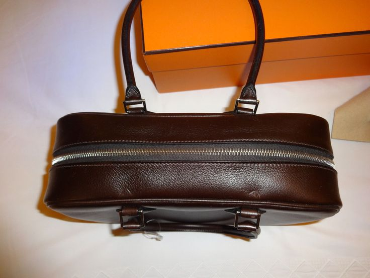 Hermes Plume Handbag in Expresso Brown Leather--New with Tag ...