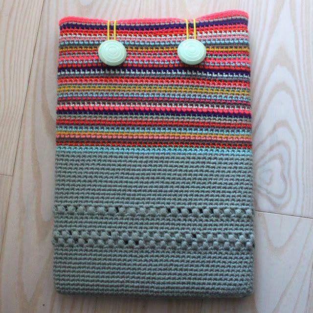 """Lutter Idyl: DIY - Crochet MacBook Sleeve 13"""""""
