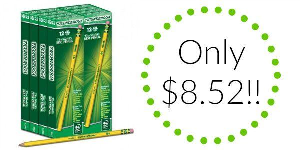 Dixon Ticonderoga Pencils 96-Count Only $8.52!