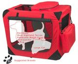 Pet Gear Red Small Deluxe Soft Dog Crate