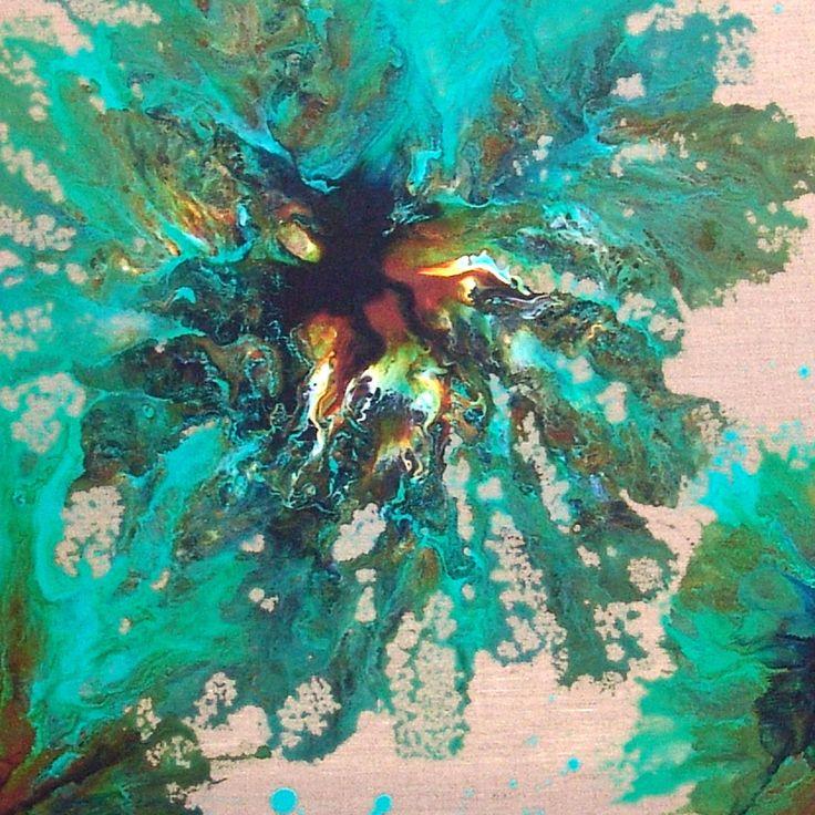 картинки в бирюзовых тонах маслом абстракция несколько квестов, рассчитанных