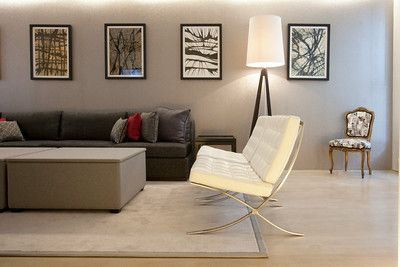 Belgravia Apartment London- Tripod standing lamp