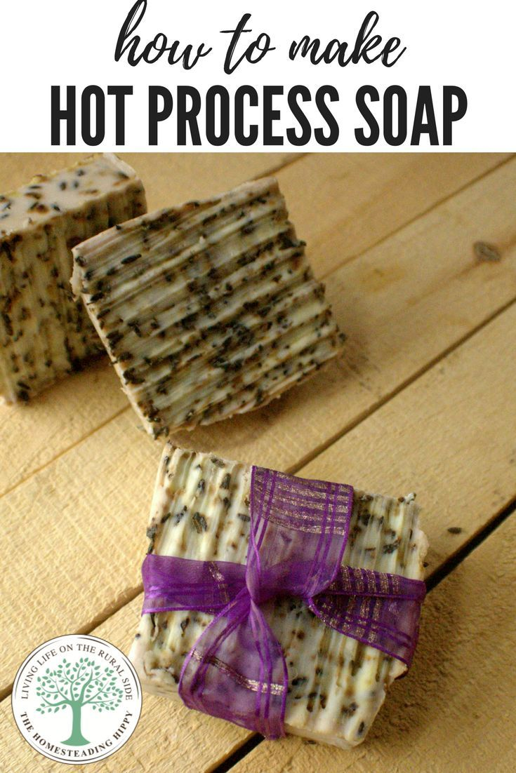 Skip the questionable chemicals in store bought soap, save money and learn to make your own bar soap. This video tutorial will get you on the path, step by step to making your soap in an hour! The Homesteading Hippy #homesteadhippy #fromthefarm #hotprocesssoap #homemadesoap #diysoap #diy #artisan