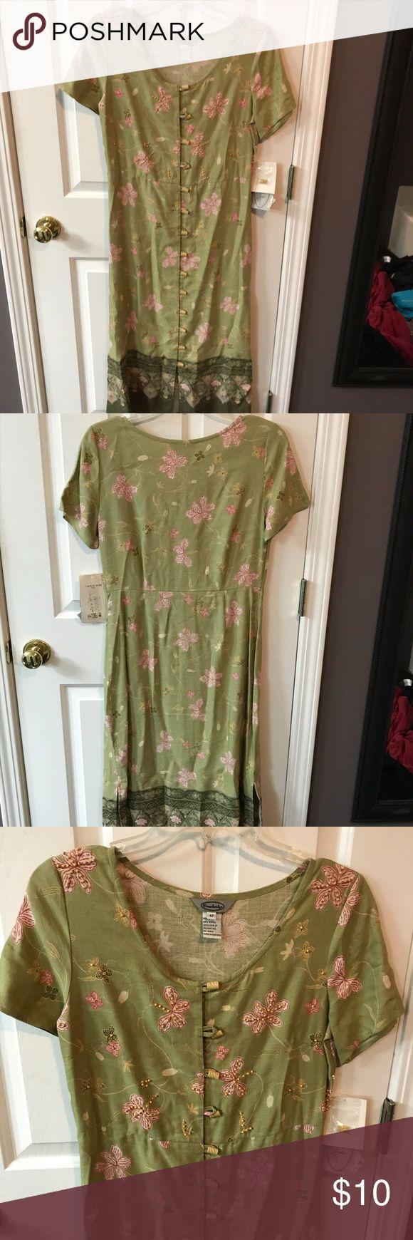 Green NWT petite dress Never worn! stonebridge Dresses Maxi