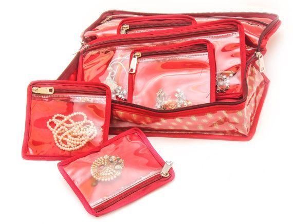 Multi-utility Jewelry Box / Bag with 8 Pouches by SpeakHomes