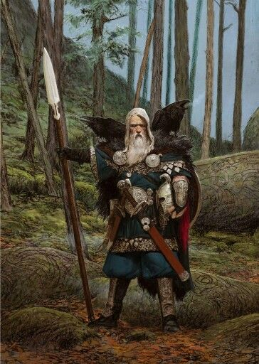 Raven Clan Leader. Blood Rage artwork by Adrian Smith.