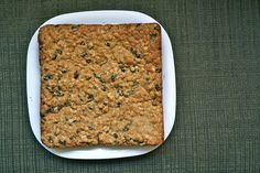 Oatmeal Raisin Bars. Thick, chewy, and delicious. Fast and easy to make. You don't even need to use your mixer.